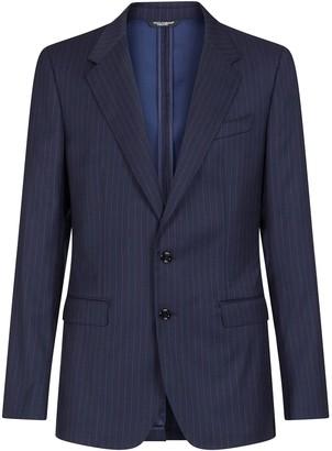 Dolce & Gabbana Striped Single-Breasted Blazer