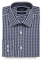 Osborne Big And Tall Navy Large Twill Gingham Regular Shirt