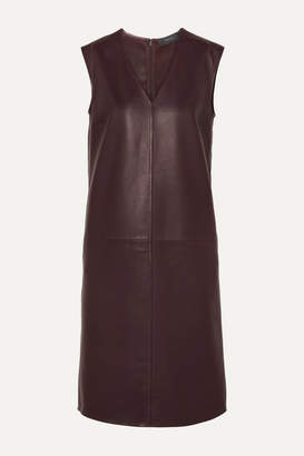Joseph Gwen Leather Dress - Burgundy