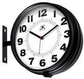Infinity Instruments Dual Dial Wall Clock - Black