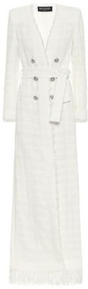Balmain Cotton-blend tweed cardigan