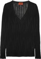 Missoni Textured crochet-knit cotton-blend top