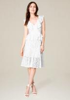 Bebe Jo Jo Ruffled Lace Dress
