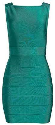 Herve Leger Backless Mini Dress