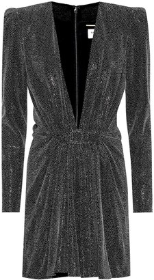 Saint Laurent Embellished minidress