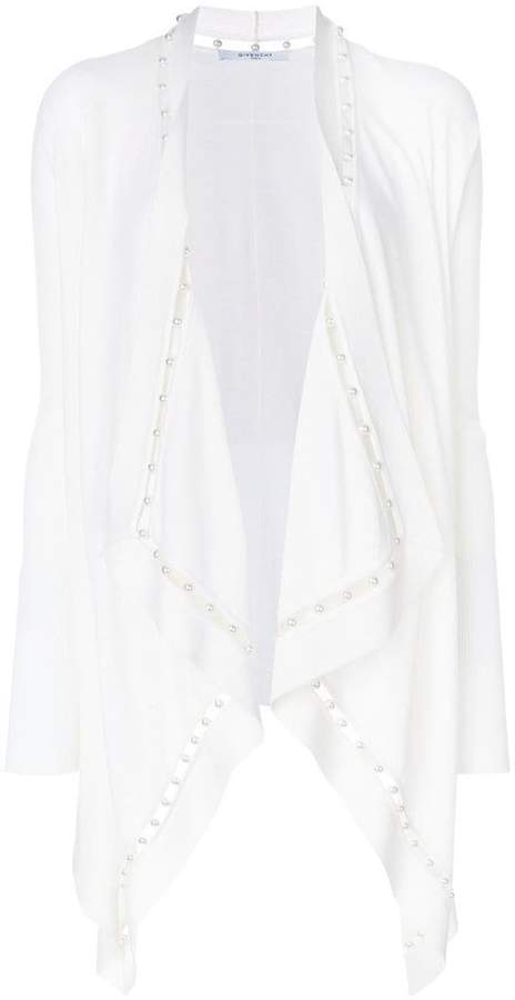 Givenchy pearl embellished waterfall cardigan