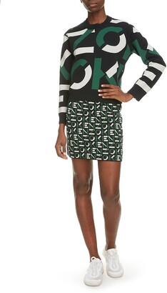 Kenzo Sport Logo Jacquard Cotton Blend Sweater