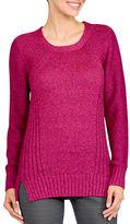 Haggar Petite Petite Long Sleeve Knit Sweater