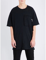 Blood Brother Zip Patch Pocket Cotton-jersey T-shirt