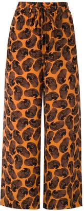 Eva Arara silk trousers