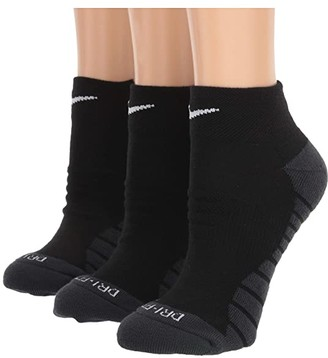 Nike Everyday Max Cushion Ankle Socks 3-Pair Pack (Black/Anthracite/White) Women's Low Cut Socks Shoes