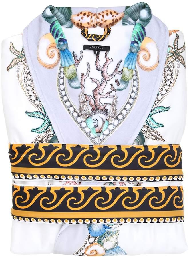 Versace (ヴェルサーチ) - Versace Les Étoiles De La Mer Printed Silk Robe