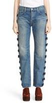 Women's Tu Es Mon Tresor Grosgrain Bow Embellished Jeans