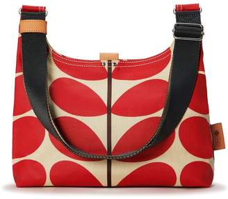 Orla Kiely Mini Crossbody Bag, Solid Stem Red
