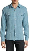 Faherty Charleston Linen Solid Sportshirt