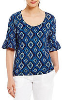 Tommy Bahama Ionian Ikat Short Sleeve Top