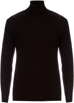 Jil Sander Wool and silk-blend roll-neck sweater