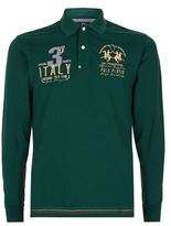 La Martina Long Sleeve Pique Logo Polo Shirt