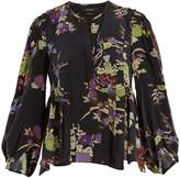 Isabel Marant Ivia floral-print pleated silk blouse