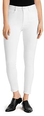 Ella Moss High-Rise Ankle Skinny Jeans in White