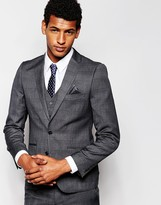 French Connection Self Check Suit Jacket - Grey