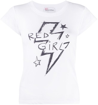 RED Valentino Red Girl print T-shirt