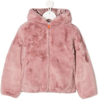 Save The Duck Kids Reversible Faux Fur Padded Coat