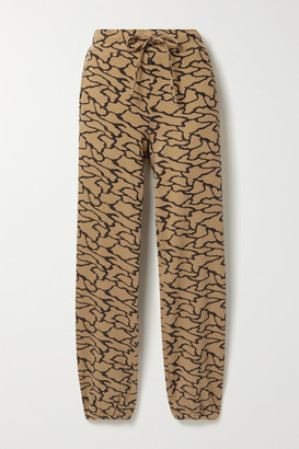 Twenty Montreal Hyper Reality Cotton-blend Jacquard-knit Track Pants - Gold