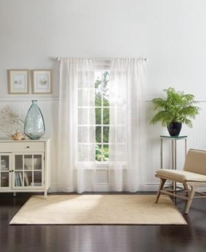 "Martha Stewart Collection Montauk Clip Sheer 84"" Poletop Curtain Panels"