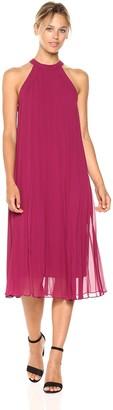 BCBGeneration Women's Sleeveless midi Pleated Dress