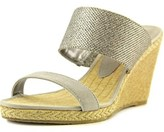 Dune London Kaleesi Di Women Open Toe Canvas Gray Wedge Sandal.