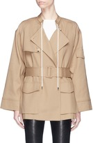 Helmut Lang Drawstring collar trench coat