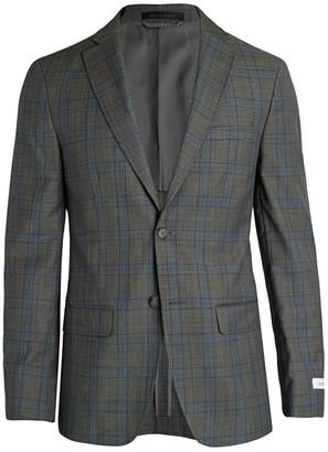 Calvin Klein Slim-Fit Plaid Jacket