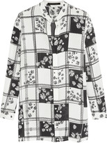 Mother of Pearl Gibson printed silk-georgette shirt