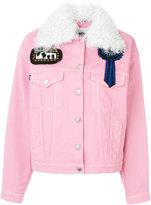 MSGM patch detail denim jacket - women - Cotton/Polyester - 38