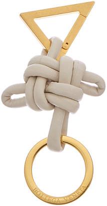 Bottega Veneta Knotted Cord Leather Key Ring