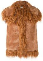 Stella McCartney faux fur gilet - women - Cotton/Modacrylic/Viscose - 42