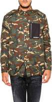 Palm Angels Camouflage Military Shirt