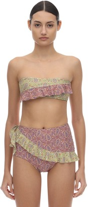 Palm Swim Alora Ruffled Lycra Bandeau Bikini Top