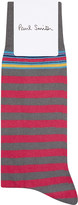 Paul Smith Mens Grey Striped Iconic Socks