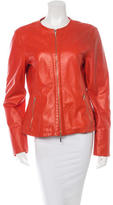 Jil Sander Paneled Leather Jacket