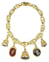 Ben-Amun Royal Charm Monarch Pendant Gold Necklace