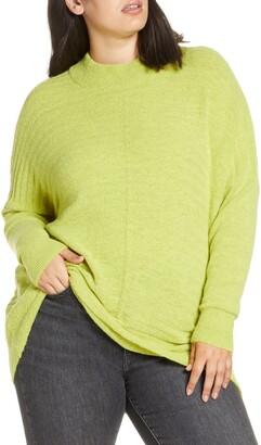 Single Thread Textured Mock Neck Sweater