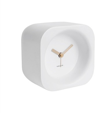Karlsson Chunky Poly Resin Alarm Clock - Matte White