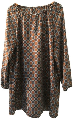 Laura Urbinati Multicolour Silk Dress for Women Vintage