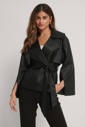 Stéphanie Durant X NA-KD Recycled Pu Belted Detail Jacket