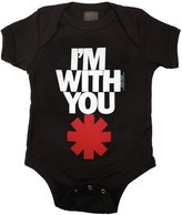 Kiditude Red Hot Chili Peppers Baby Onesie, Black
