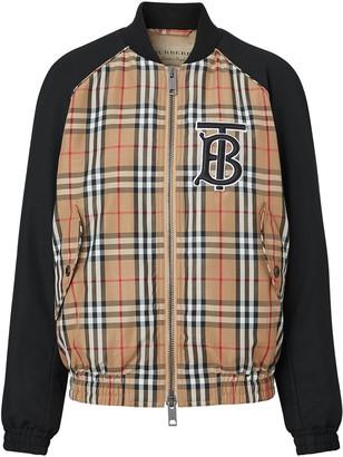 Burberry monogram motif vintage check bomber jacket