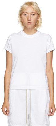 Rick Owens White Short Level T-Shirt
