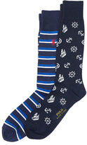 Polo Ralph Lauren Nautical Trouser Sock 2-Pack